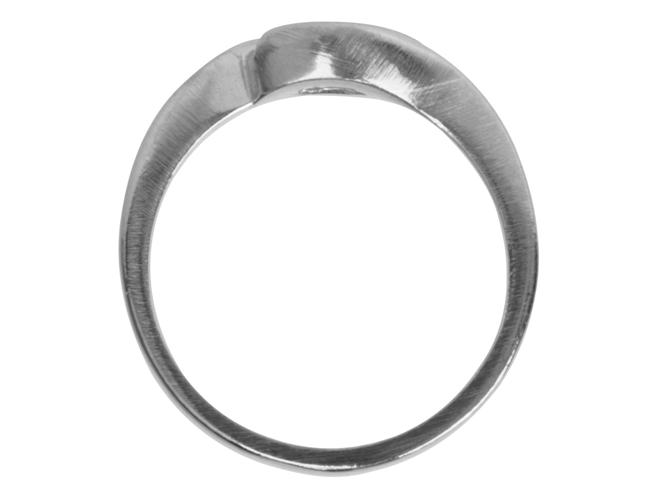 9ct White Crossover Ring Mount 30pt Hallmarked Size M