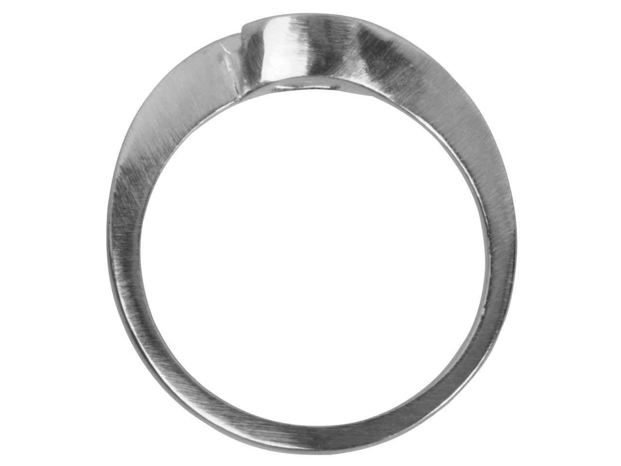 9ct White Crossover Ring Mount 50pt Hallmarked Size M