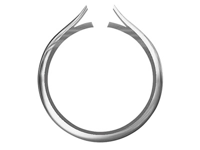 9ct White Gold Medium Ss2 Tapered  Ring Shank Without Cheniers Size M