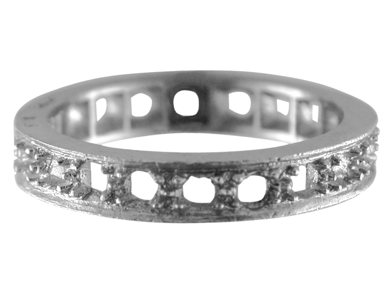 18ct White Full Eternity Ring 20   Stone Hallmarked Stone Size 2.4mm  Size M