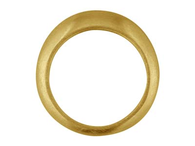 18ct Yellow Gold C18 Domed Ring    Plain Hallmarked Widest Point      6.75mm Size Q Hollowed Back With   Centre Punch Mark