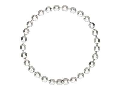 Sterling Silver Bead Chain Ring    1.5mm Size J - K