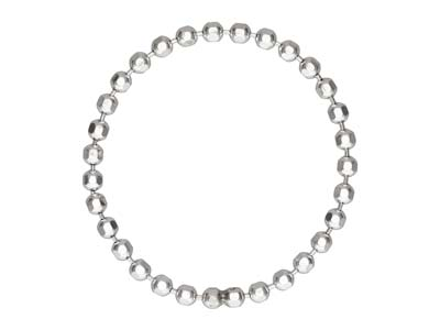 Sterling Silver Bead Chain Ring    1.5mm Size M - N