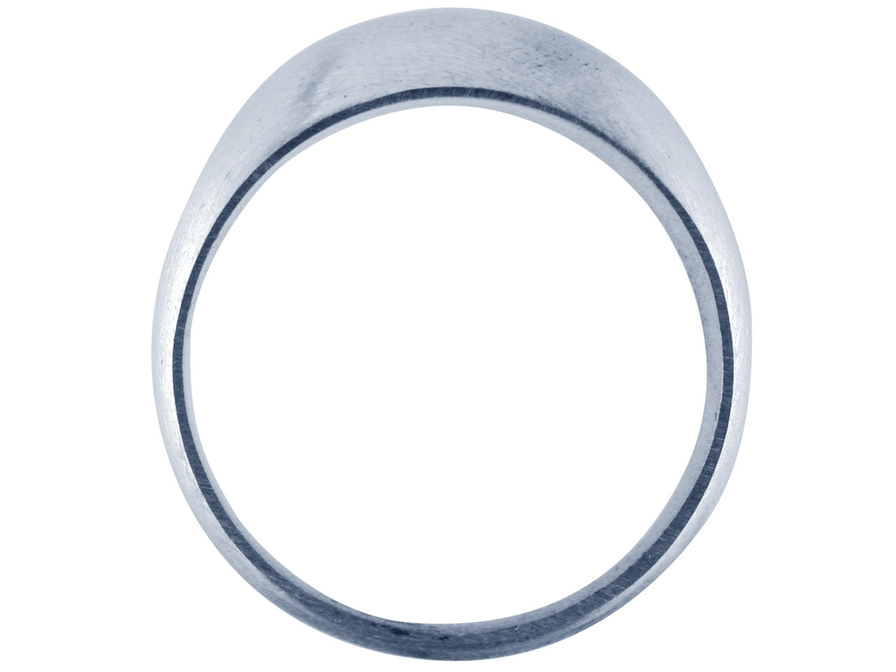 Sterling Silver C16 Domed Ring 4mm Head Hallmarked Widest Point 10mm  Size U Plain Solid Back