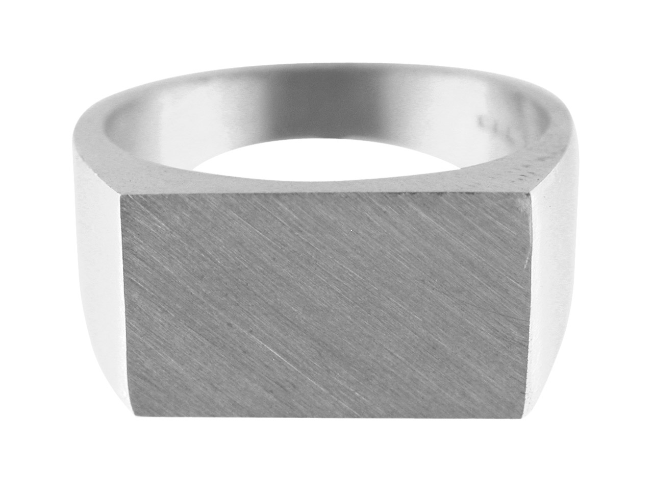 Sterling Silver G6 Initial          Rectangular Ring Hallmarked 17x11mm Head Depth 2.1mm Size R