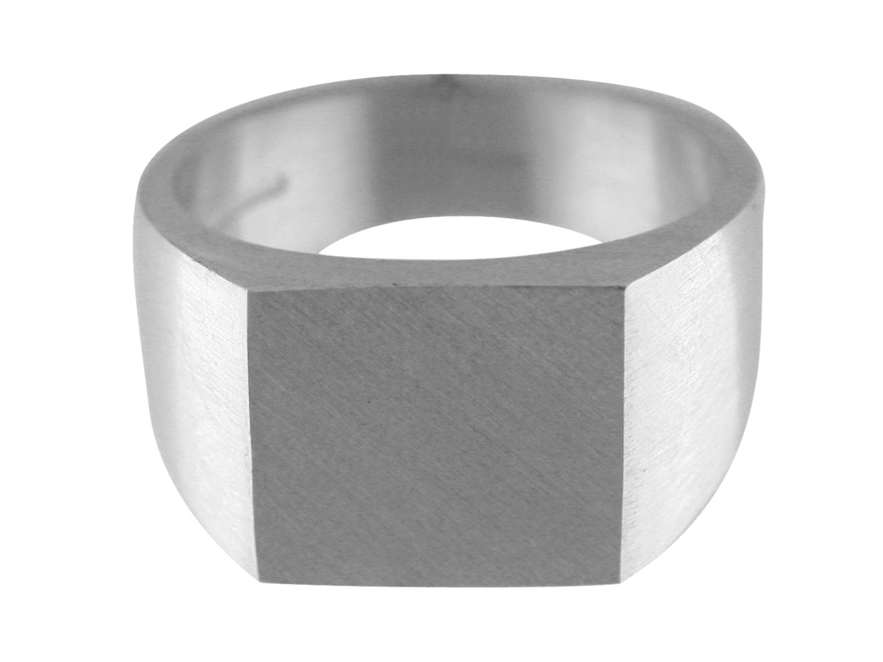 Sterling Silver G16 Initial        Rectangular Ring Hallmarked        17.5x12mm Head Depth 5mm Size R