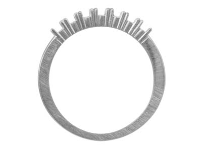 Sterling Silver K31a Half          Eternity Ring 7 X 2.5mm Rounds
