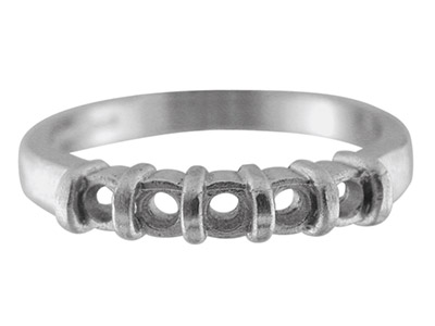 Sterling Silver K59 12            Eternity Ring Hallmarked 5x3.0mm   Rounds Size O