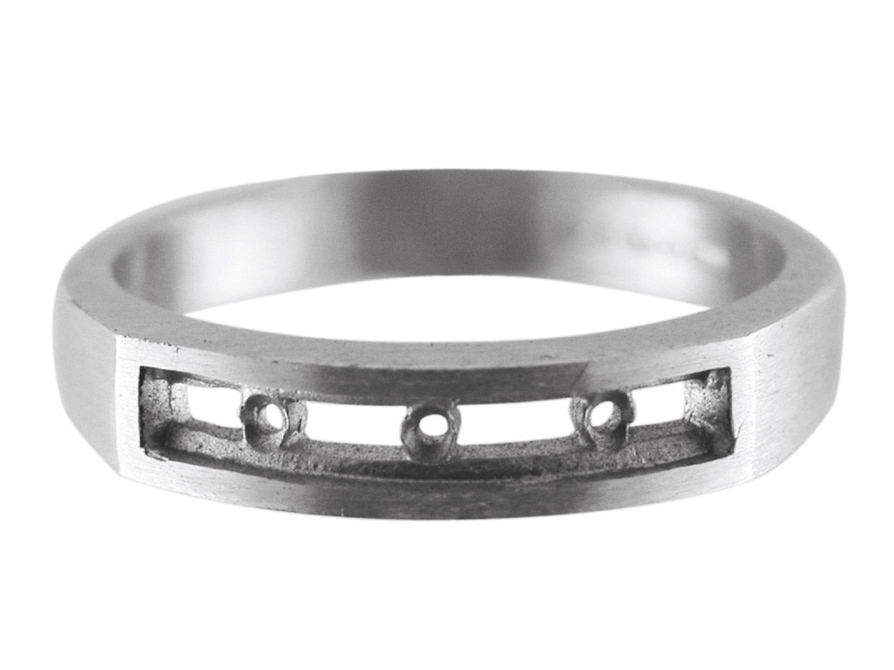 Sterling Silver K61 Channel Set    Eternity Ring Hallmarked 7x2.4mm   Size O