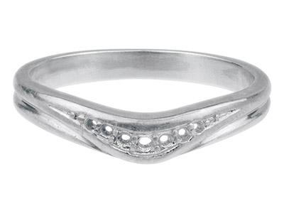 Sterling Silver 7 Stone Curved Ring Hallmarked Grain Set Size N