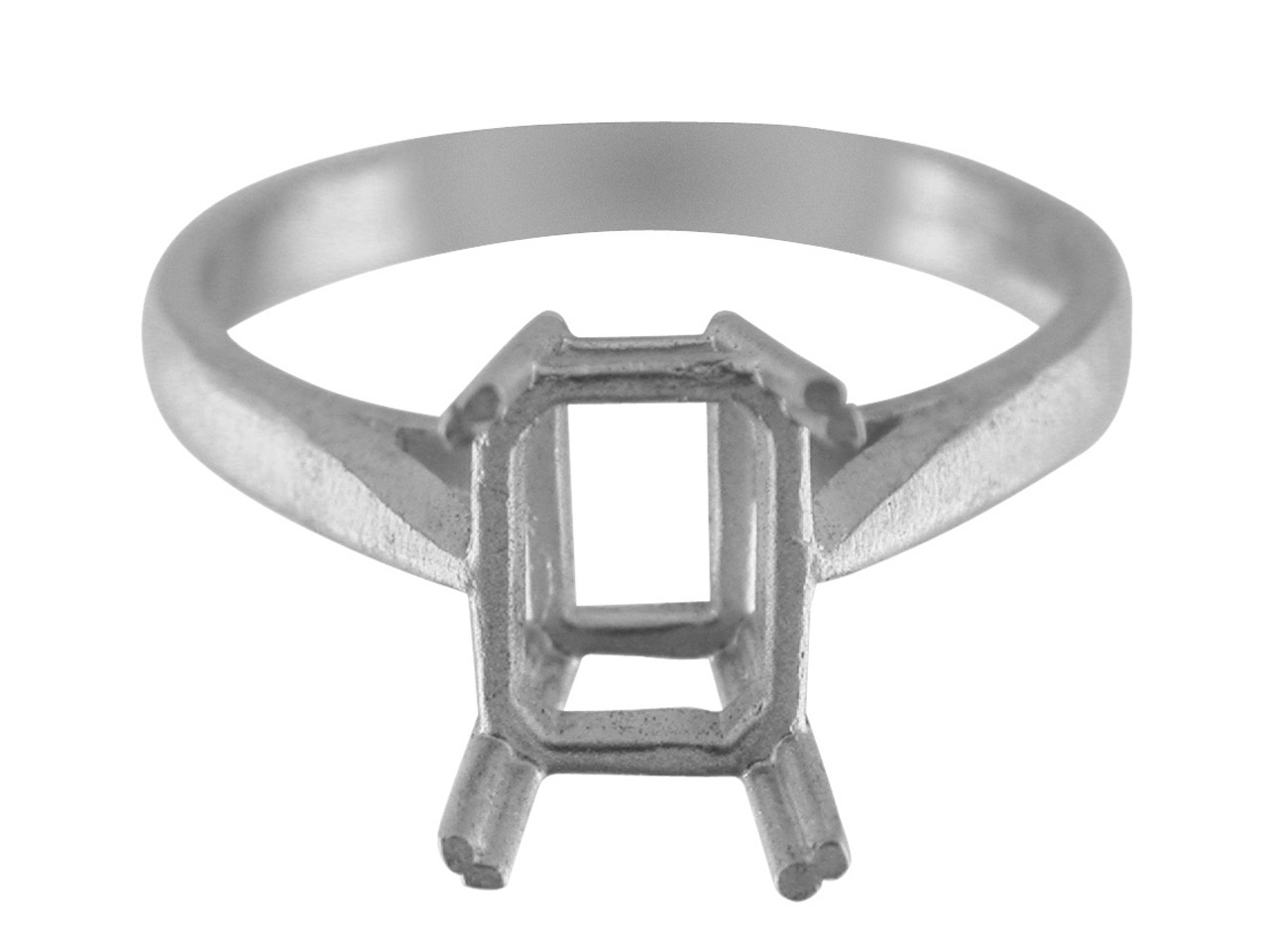 Sterling Silver N5 Dress Octagonal Ring 10x8mm Hallmarked Size N