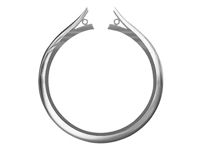 Platinum Medium Ss2 Tapered Ring   Shank With Cheniers Size M