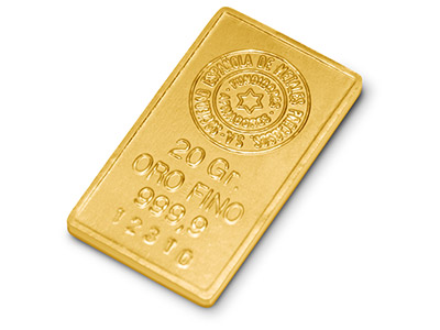 Fine Gold Bar 20gms Stamped
