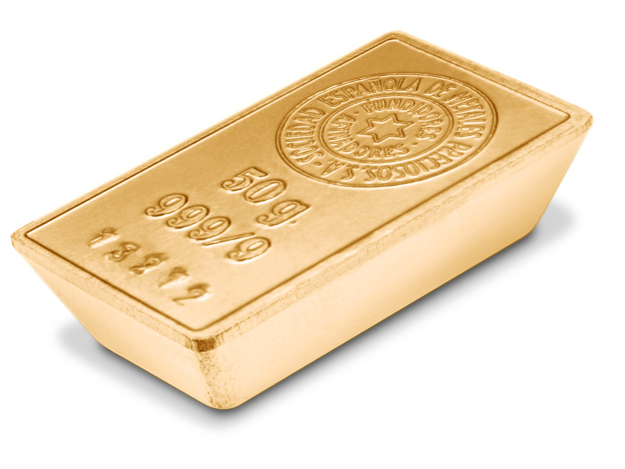 Fine Gold Bar 50gms Stamped