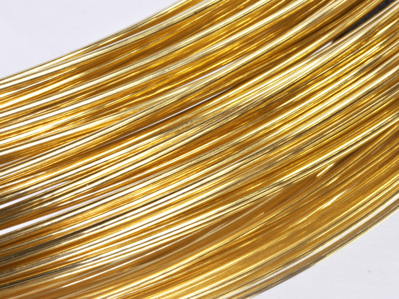 9ct Yellow DF Round Wire 0.50mm