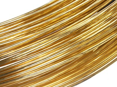 9ct Yellow DF Round Wire 1.00mm