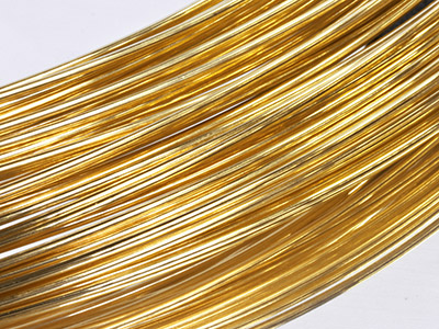 9ct Yellow DF Round Wire 5.00mm,   100 Recycled Gold