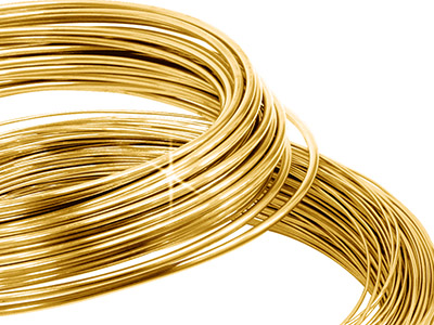 9ct Yellow DF Round Wire 0.70mm    Half Hard, 100 Recycled Gold