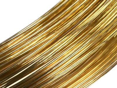 18ct Yellow HB Fairtrade Gold Round Wire 1.50mm