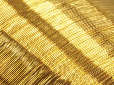 18ct Yellow HB Round Wire 0.25mm   Half Hard, Laser Wire, 100        Recycled Gold