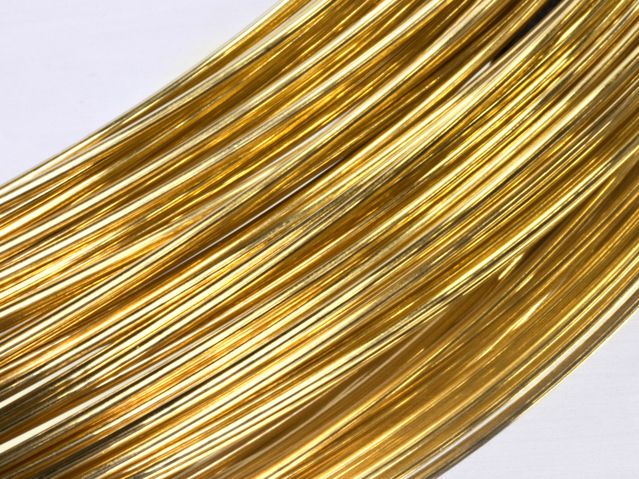 18ct Yellow HB Round Wire 0.50mm