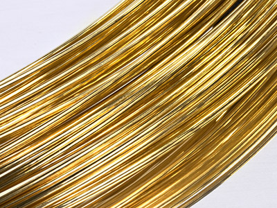 18ct Yellow HB Round Wire 6.00mm,  100 Recycled Gold