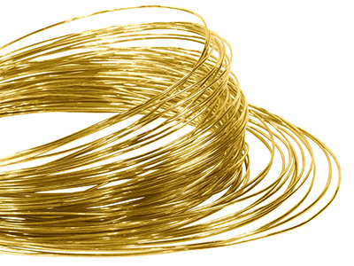 18hab Round Pin Wire 0.80mm Fully  Hard, Coils, 100 Recycled Gold