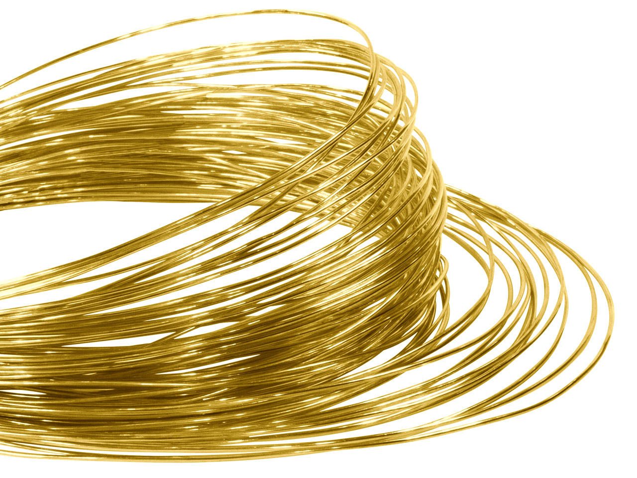 18hab Round Pin Wire 0.80mm Fully  Hard, Coils, 100% Recycled Gold