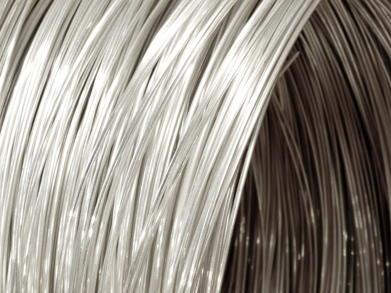 18ct Medium White Fairtrade Gold   Round Wire 2.50mm