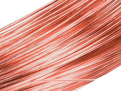 18ct Red Gold 5n Round Wire 0.50mm, 100 Recycled Gold