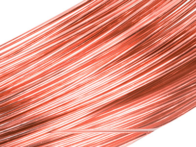 18ct Red Gold 5n Round Wire 0.80mm, 100 Recycled Gold