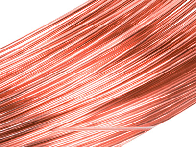 18ct Red Gold 5n Round Wire 2.00mm, 100 Recycled Gold