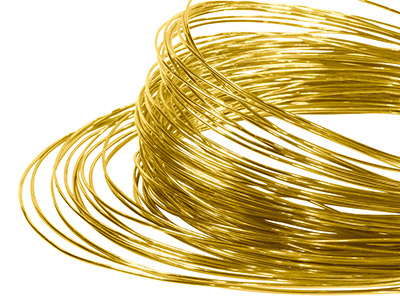 18ct Yellow Gold Easy Solder Round Wire 0.50mm