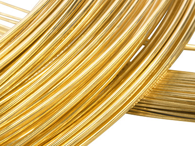 22ct Yellow DS Round Wire 2.00mm,  100 Recycled Gold