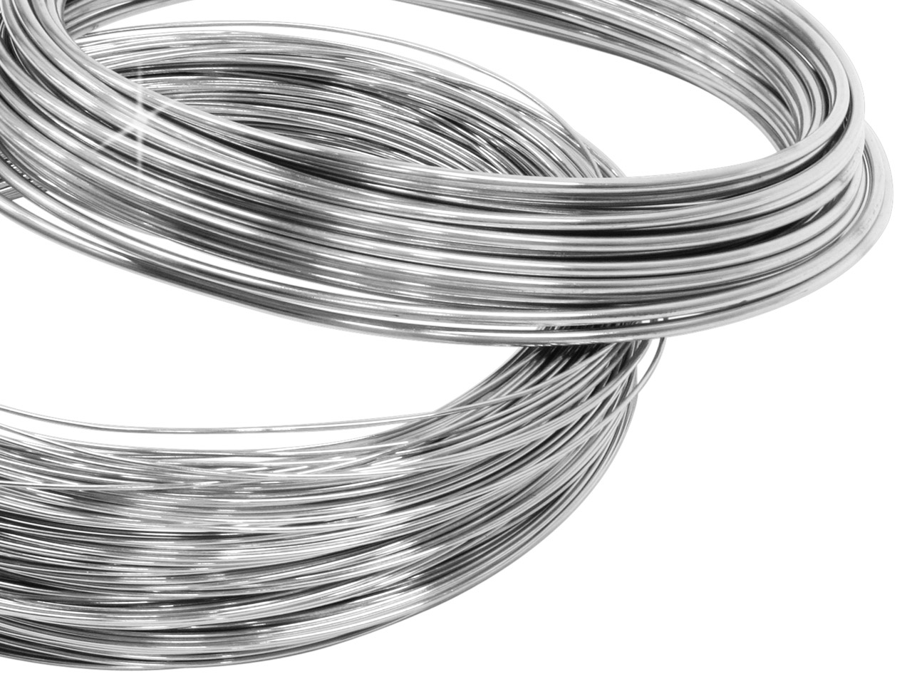Sterling Silver Round Wire 0.50mm, Fully Hard, Coils Of 30gms