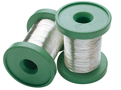 Sterling Silver Round Wire 0.40mm  Half Hard, 30gm Reels