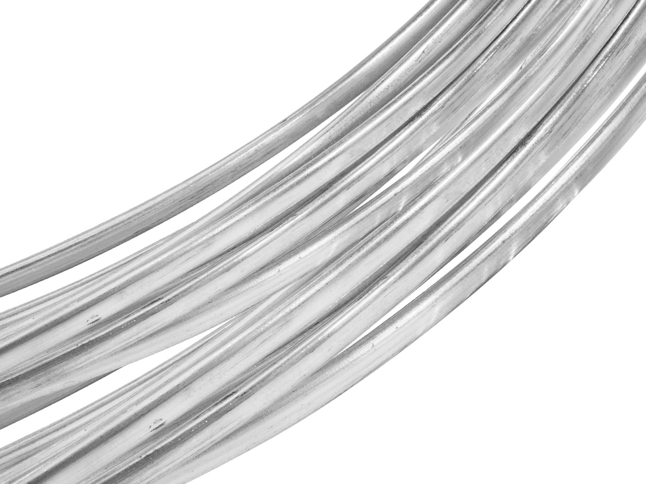 Sterling Silver Oval Wire 2.5mm X  1.7mm
