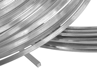 18sw Square Wire 6.00mm Fully      Annealed, Rough Rolled, 100       Recycled Gold
