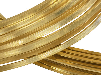 22ct Yellow DS Square Wire 6.00mm  Fully Annealed, 100 Recycled Gold