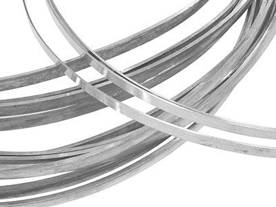 Sterling Silver Rectangular Wire   8mm X 3.2mm