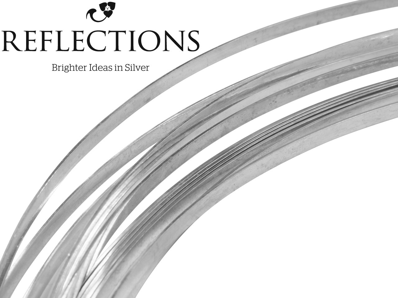 Reflections Silver Rectangular Wire 4.80mm X 2.40mm. Fully Annealed     Soft