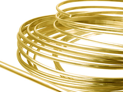 9ct Yellow DF D Shape Wire 4.00mm X 1.30mm, 100 Recycled Gold
