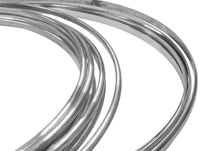 9ct Medium White D Wire 3.0 MM X   2.0 MM