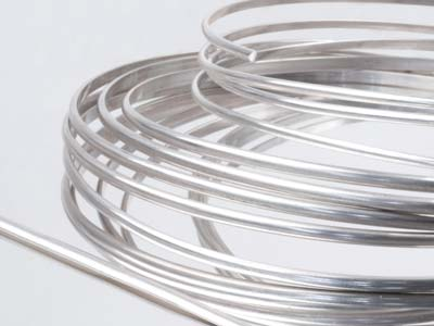 2.3 x 1.5mm Ecosilver D Shape Wire