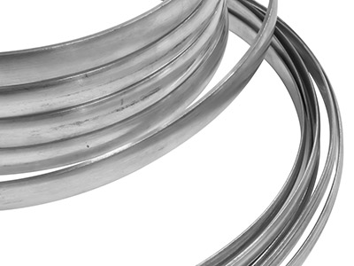 Sterling Silver D Shape Wire 11.0mm X 3.0mm Flat Edge