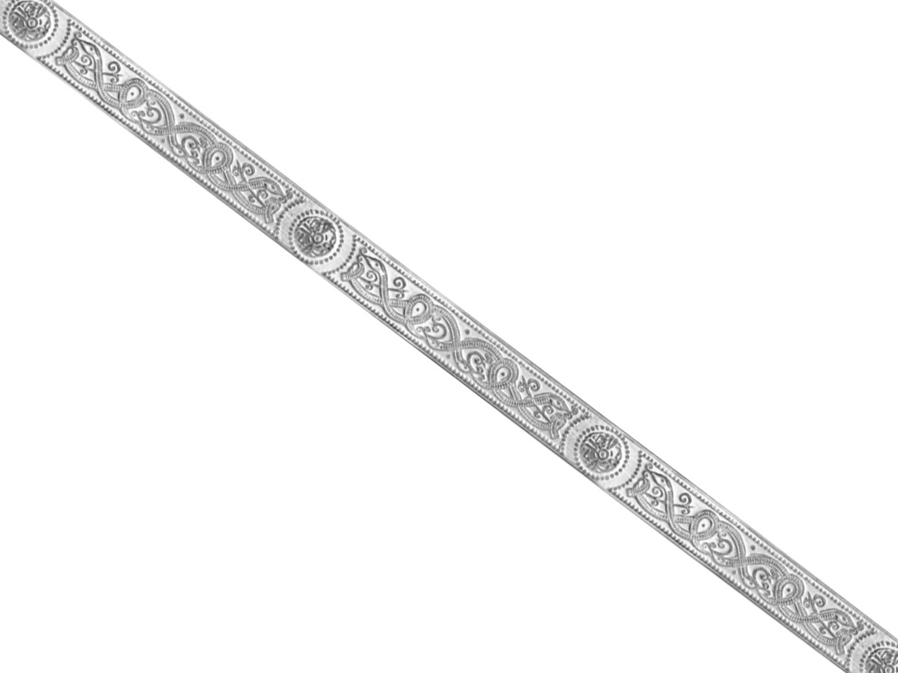 Sterling Silver Pattern Wire 3394  128g/mtr Half Hard, 1.3mm X 9.5mm