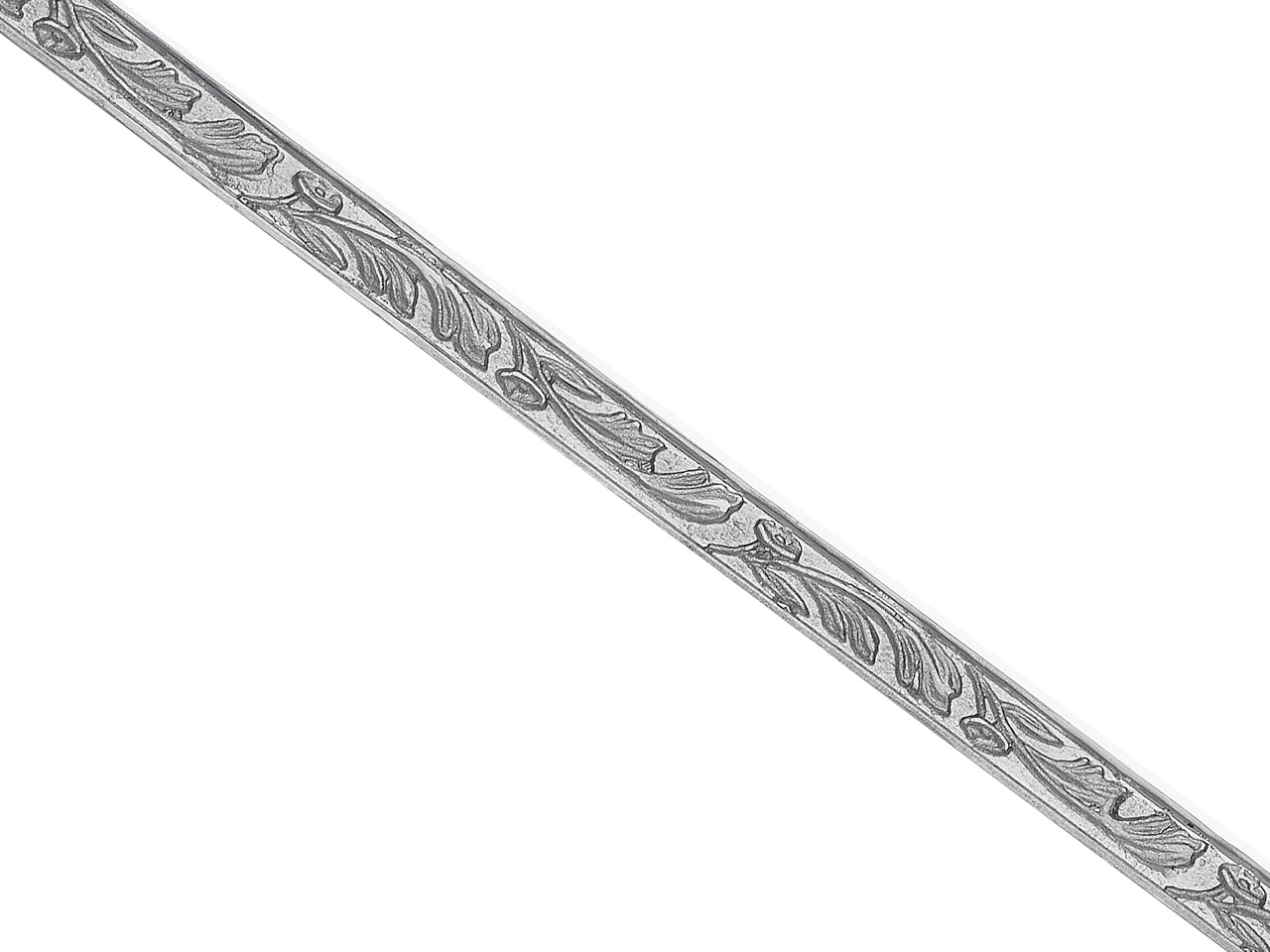 Sterling Silver Pattern Wire 3420  32g/mtr Half Hard, 0.75mm X 4.2mm