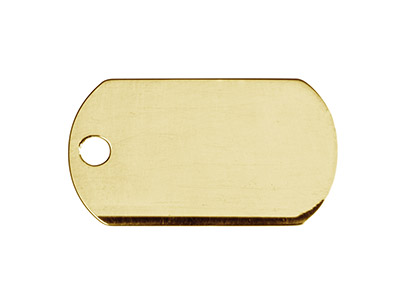 14ct Gold Filled Plain Dog Tag     22x13mm Stamping Blank