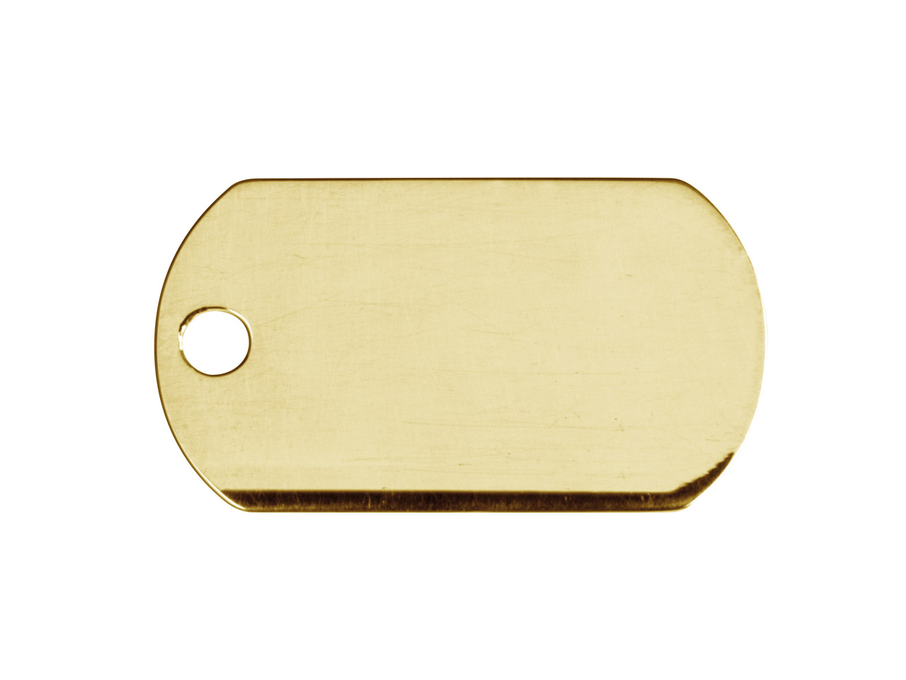 Gold Filled Plain Dog Tag 22x13mm  Stamping Blank