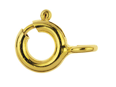 Gold Filled Bolt Ring With Open    Jump Ring 5.5mm Pack of 5